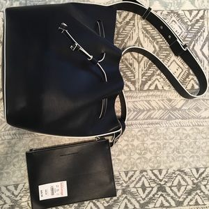 French Connection NWT navy hobo bag with wristlet